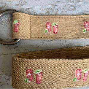 J.Crew Embroidered Cotton Adjustable Belt M/L